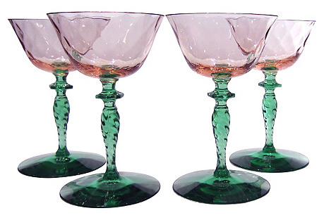Champagne Coupes, S/4