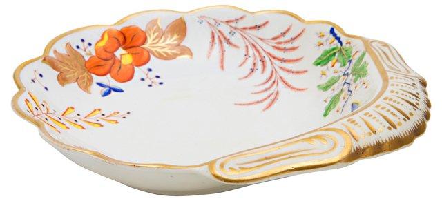 English Porcelain Shrimp Dish