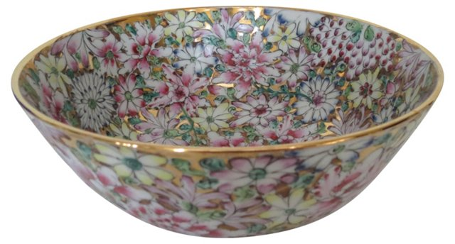 Chinese Gilt Porcelain Floral Bowl