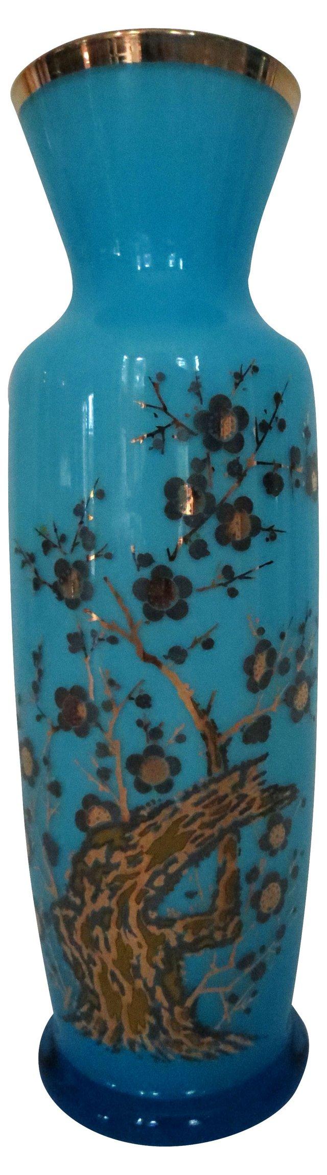 French Opaline Gilt Vase