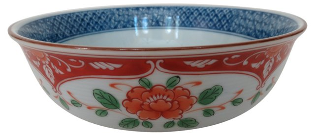 Blue & Oxblood Porcelain Chinese Bowl