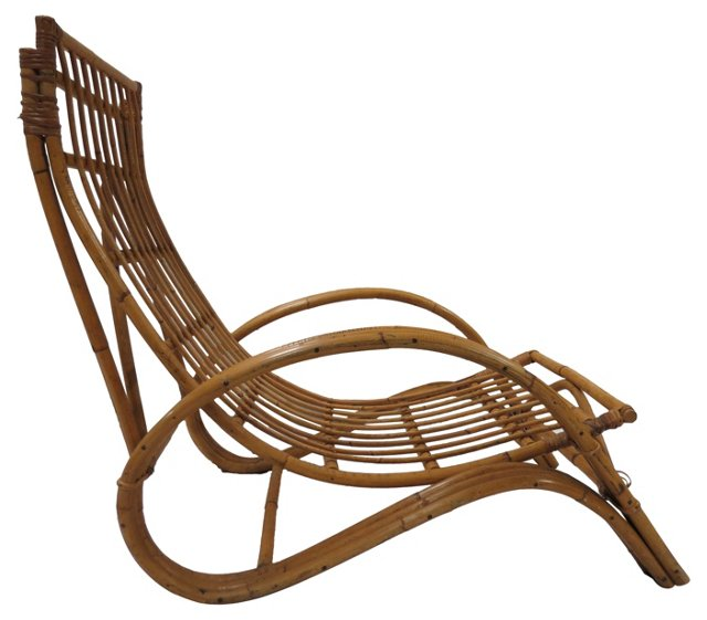 Albini-Style Sloping Lounge Chair