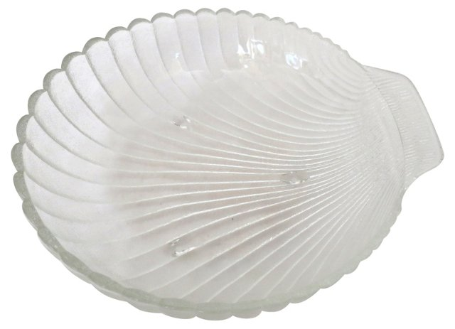 Frosted Glass Shell Bowl