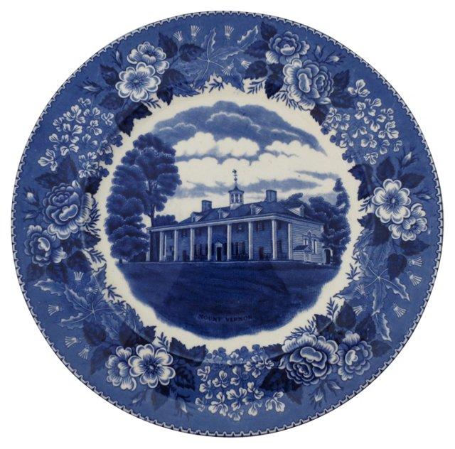 Staffordshire English Wall Plate