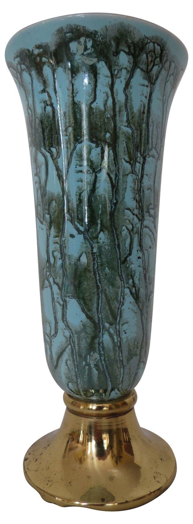 Ceramic & Brass  Vase