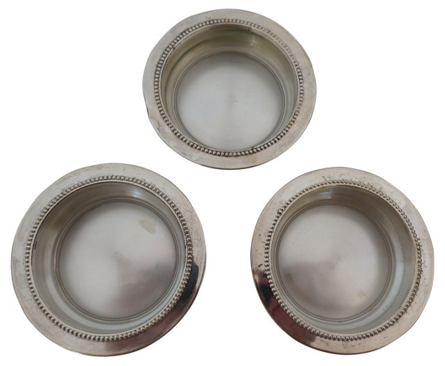 Silverplate Coasters, S/3