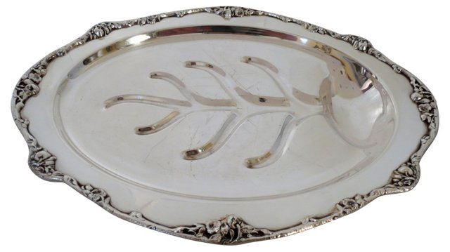 Silver Footed Meat Platter