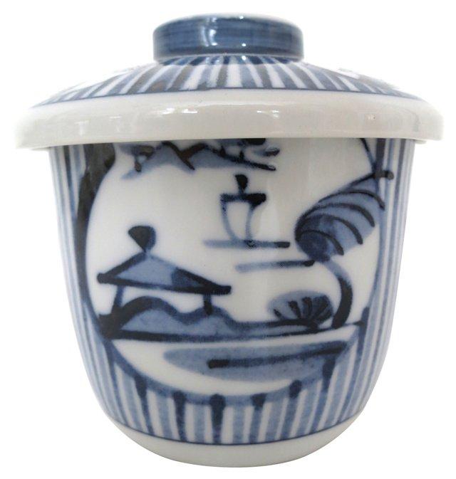 Hand-Painted Porcelain Lidded Jar
