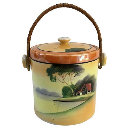 1950s Porcelain Biscuit Barrel