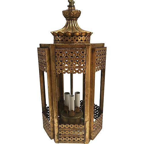 Gilt Pagoda-Style Pendant