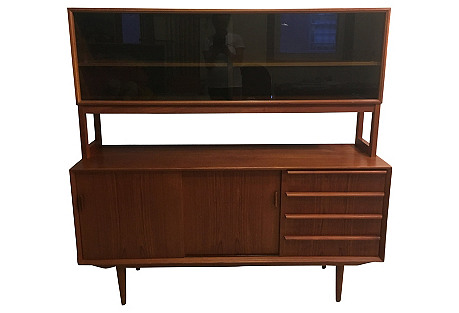 Danish Teak Sideboard & Topper