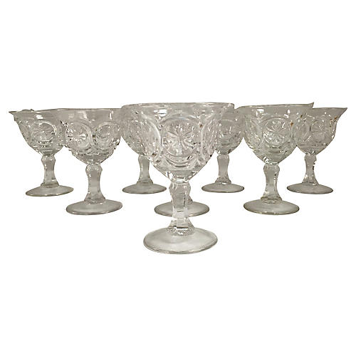 1950s Champagne Coupes, S/8