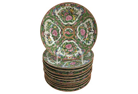Chinese Famille Rose Plates, S/12