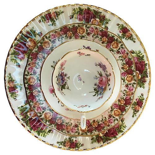 Floral Place Set, 4 Pcs