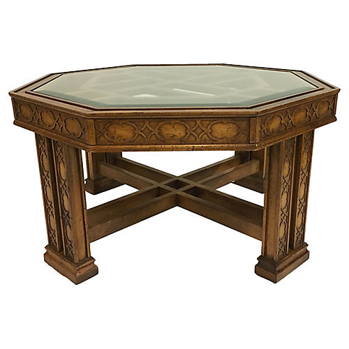 Fretwork Octagonal Cocktail Table