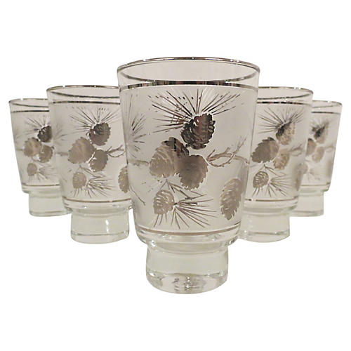 1950s Frosted Glassware, S/6
