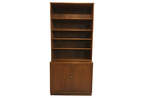 Kipp Stewart Walnut Bookcase w/ Cabinet