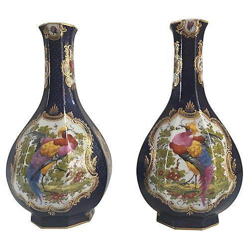 Meissen Birds Of Paradise Vases, Pair