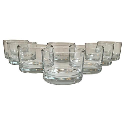 Mid-Century Modern Lowball Glasses, S/8