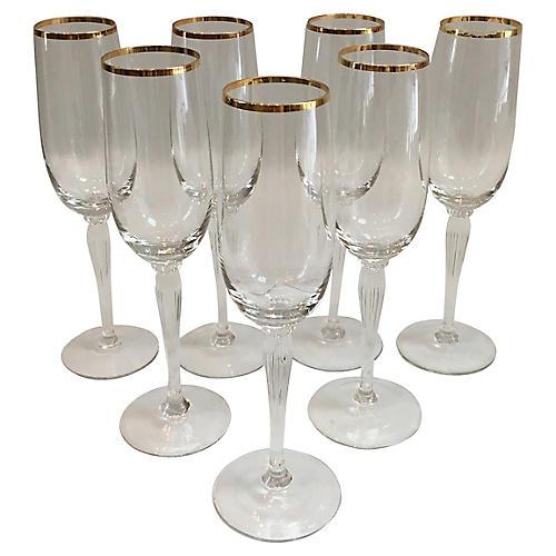 Gorham Champagne Flutes, S/7