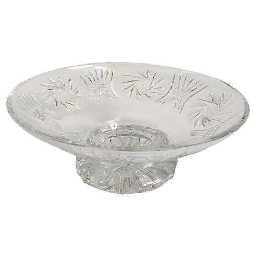 French Crystal Serving Bowl Compote