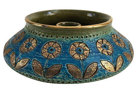Bitossi Italian Gilt Candleholder/Vase