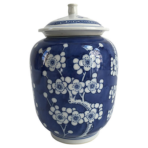 Chinese Porcelain Prunus Ginger Jar
