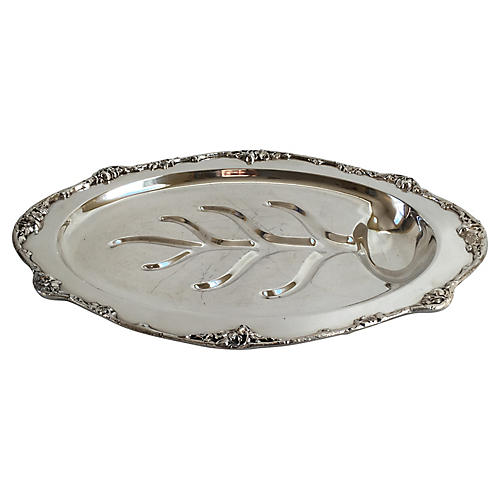 Silver-Plate Oval Tree & Well Platter