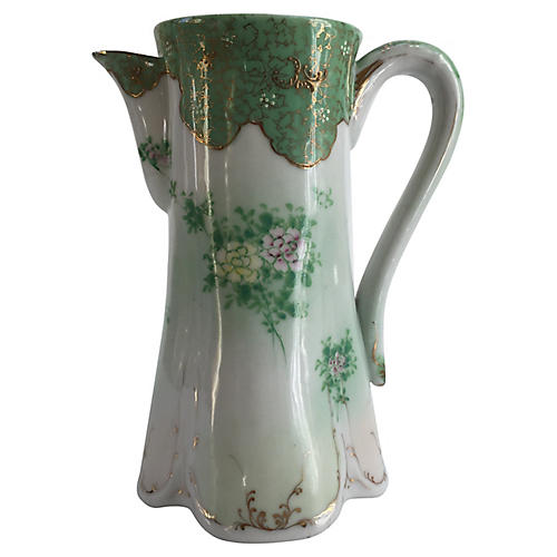 French Hand-Painted Pitcher