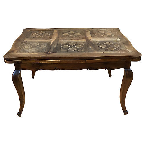 French Parquetry Dining Table