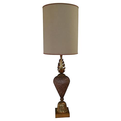 Blush Pink & Brass Table Lamp