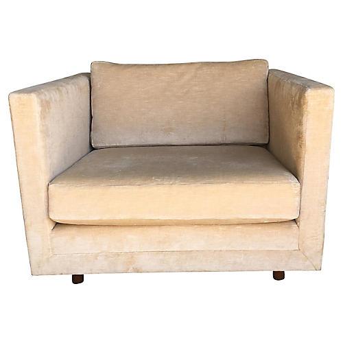 Harvey Probber Tuxedo-Style Lounge Chair