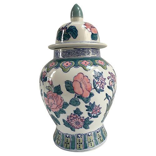 Hand-Decorated Porcelain Ginger Jar