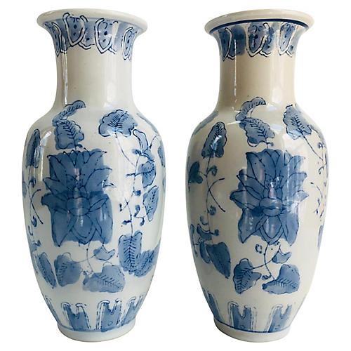 Chinese Porcelain Vases, S/2
