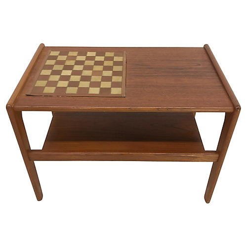 1960s Danish Teak Game Table
