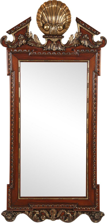 Parcel Gilt Mahogany Mirror