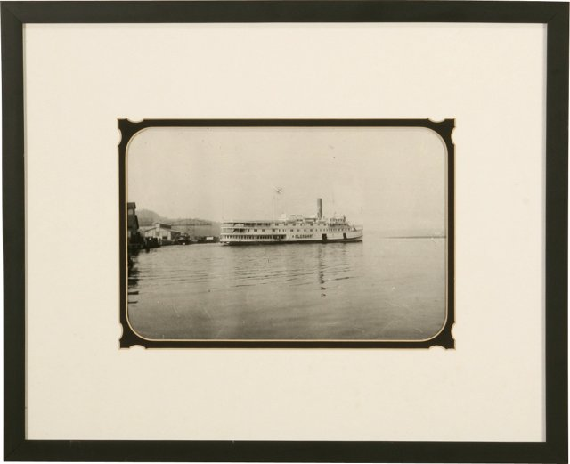 Clermont Steamboat Photograph