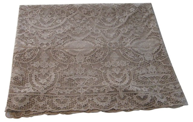 Danish Custom-Design Lace Tablecloth