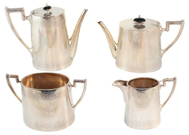Oval  Tea & Coffee Service, 4 Pcs