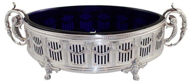 Cobalt-Lined Dish