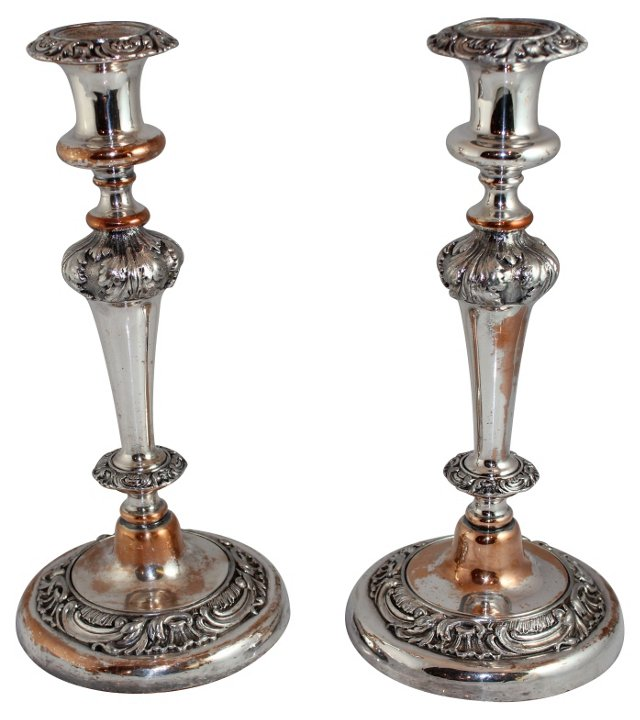 George III Candlesticks, C. 1820, Pair