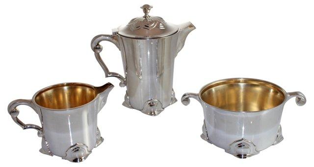 Art Nouveau Coffee Service, 3 Pcs
