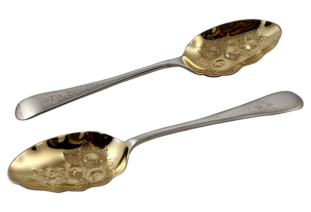 Berry     Spoons, Pair