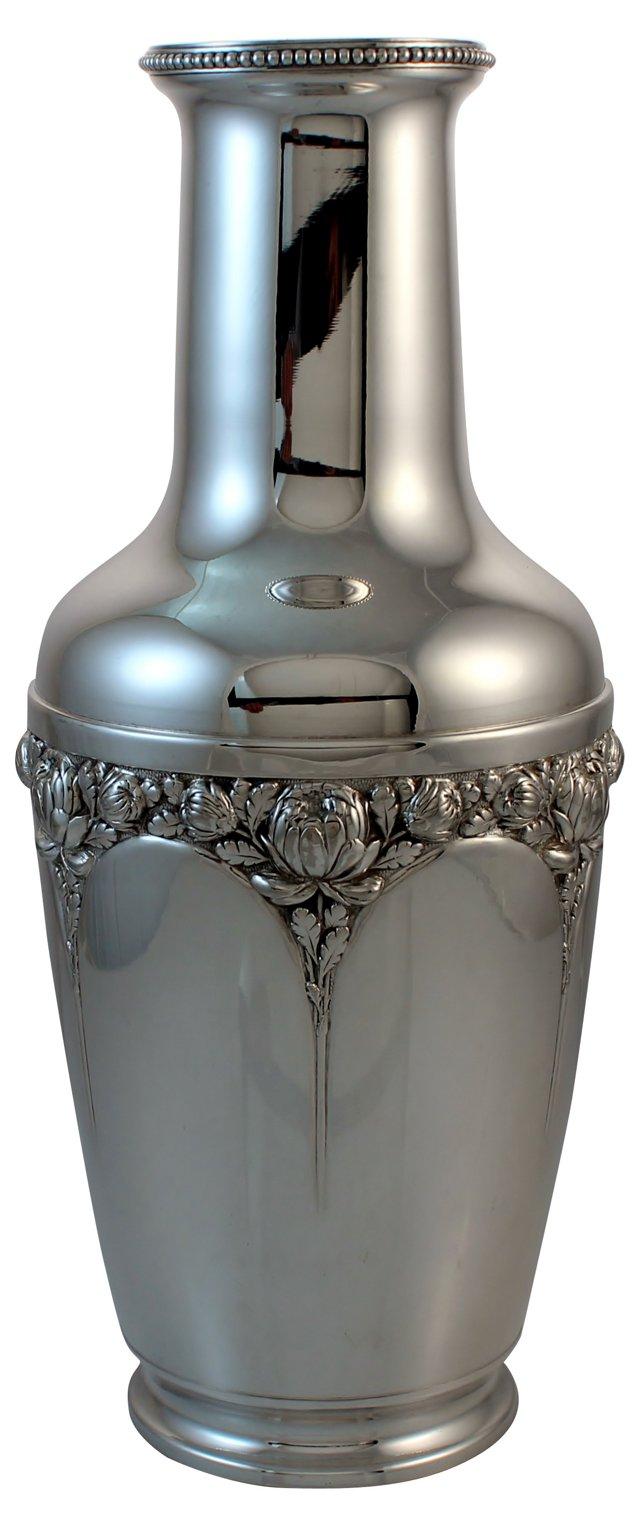 Art Nouveau Silver Vase