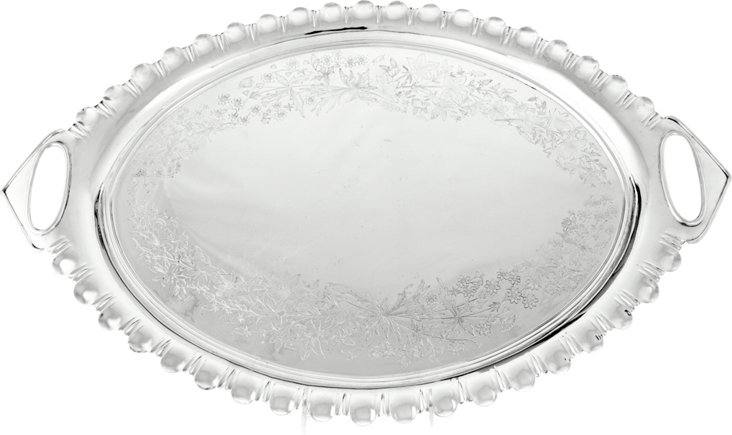 Silverplate Oval Tray