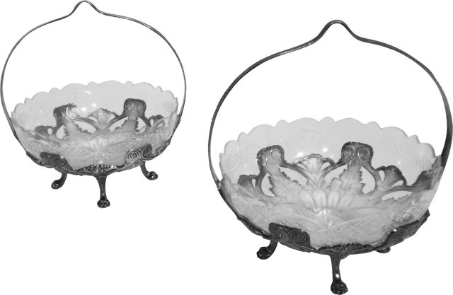 French Candy Dishes, Pair