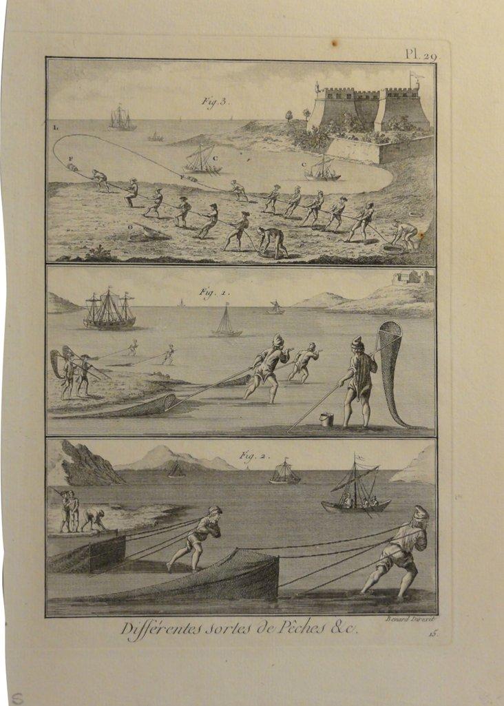 18th-C. Fishing  Engraving