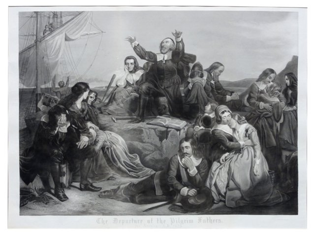 Departure of our Pilgrim Fathers