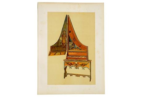 Upright Spinet, 1888