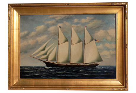 Three-Masted Schooner, C. 2005